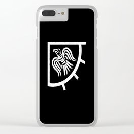 Raven banner Clear iPhone Case