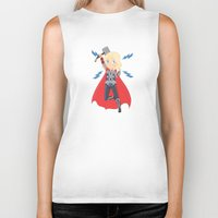 thor Biker Tanks featuring Thor by Nozubozu