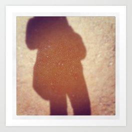 Shadow in the AZ desert... Art Print