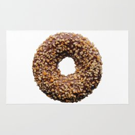 Chocolate and crushed nuts donut Rug
