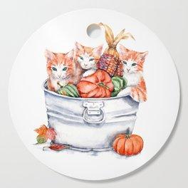 Harvest Kittens Cutting Board