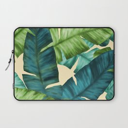 Tropical Banana Leaves Original Pattern Laptop Sleeve