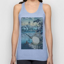 Japanese woodblock mashup Unisex Tank Top