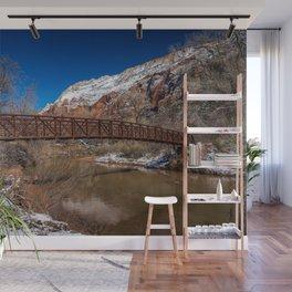 Virgin_River Foot_Bridge - Zion Court Wall Mural