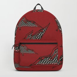 Pterosauria red Backpack