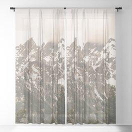 Grand Teton National Park Adventure - Wanderlust Mountains Sheer Curtain