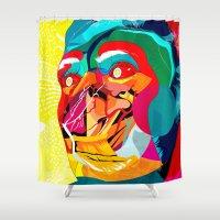 xmas Shower Curtains featuring Merry Xmas by Alvaro Tapia Hidalgo