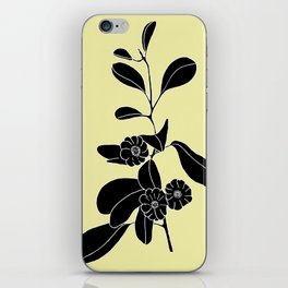 Goat's Foot (also known as Mauve Convolvulus, Beach Potato Vine, and Morning Glory) - Ipomoea pes-ca iPhone Skin
