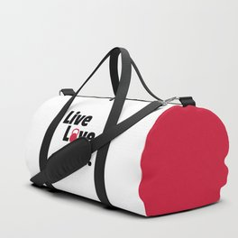 Live, Love, Lift Gym Quote Duffle Bag