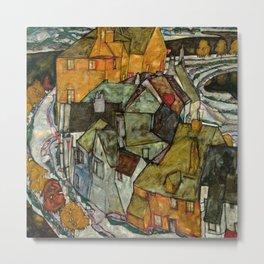 "Egon Schiele ""Crescent of Houses II (Island Town)"" Metal Print"