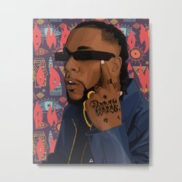 BURNA BOY Metal Print