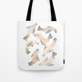 My Lips Are Seals Tote Bag