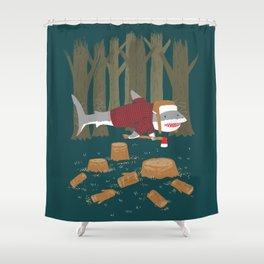 LumberJack Shark Shower Curtain