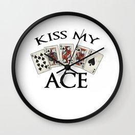 poker player gift as funny poker t-shirt Wall Clock