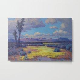 Desert in Flower by John Marshall Gamble Metal Print