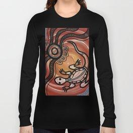 Aboriginal Art - Lizard Long Sleeve T-shirt