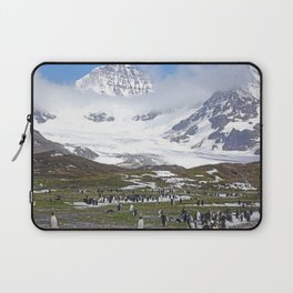 King Penguins at St. Andrew's Bay Laptop Sleeve
