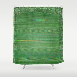 Trippy Holiday Shower Curtain