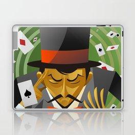 top hat magician poker cards magic trick Laptop & iPad Skin