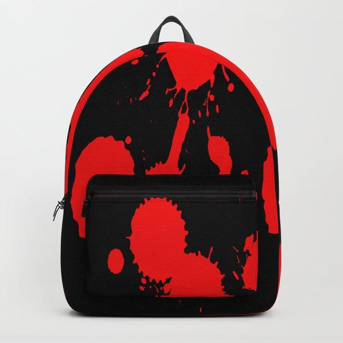 blood stains splatter on black Backpack