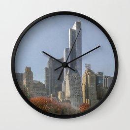 Autumn in New York Wall Clock