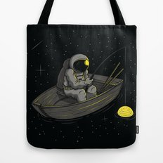 Lonely fishing Tote Bag