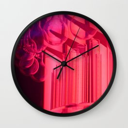 Pink Glass Wall Clock