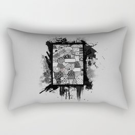 Random Collage Rectangular Pillow