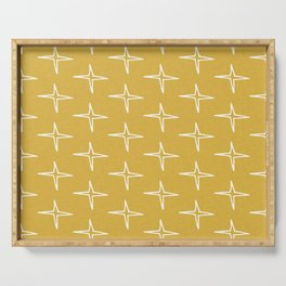 Nautical Star Mustard #homedecor Serving Tray