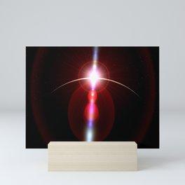 closer to the moon lens flare Mini Art Print