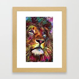 Colorful Lion Painting 2018 Framed Art Print