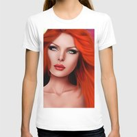 redhead T-shirts featuring Beautiful RedHead by Rayne Morgan