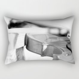 Violin in Black & White Rectangular Pillow