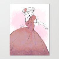 dress Canvas Prints featuring Dress by meglikestodraw