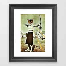 battle-cat  Framed Art Print