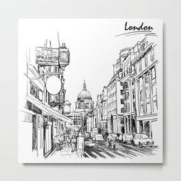 Sketch from London 03 Metal Print