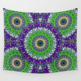Green Light Mandala Art by Sharon Cummings Wall Tapestry