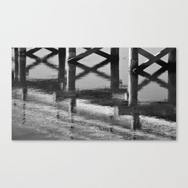 Warf Reflection Canvas Print