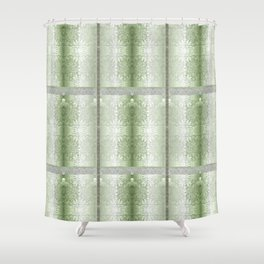 elegant lace-hand painted design-haute couture and home decor design Shower Curtain