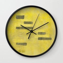 Stasis Gray & Gold 3 Wall Clock