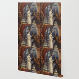 Vintage Romeo and Juliet Painting (1861) Wallpaper