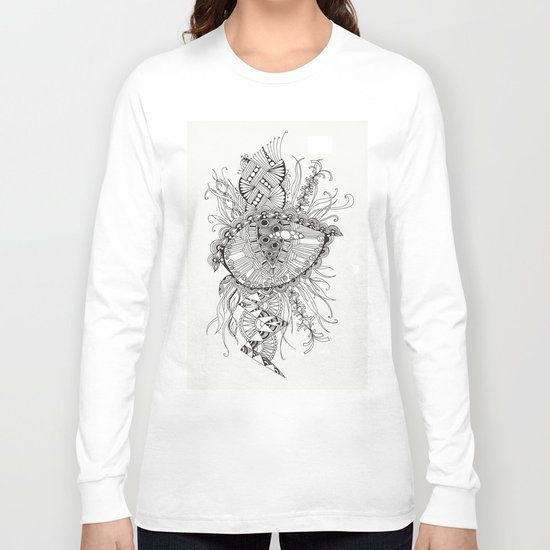 black and white abstraction Long Sleeve T-shirt