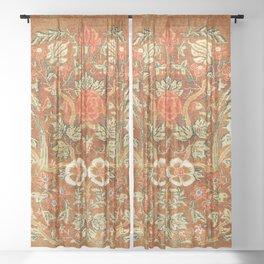 Tabriz Azerbaijan Northwest Persian Rug Print Sheer Curtain