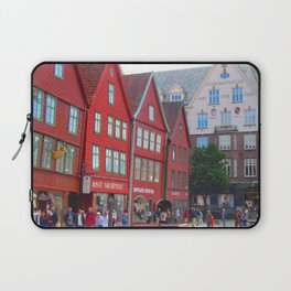 Norway Photography - Famous Place In Bergen Laptop Sleeve