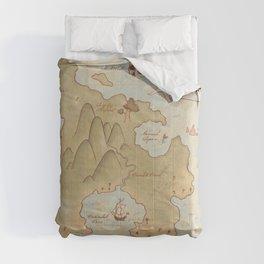 Map of Neverland Comforters