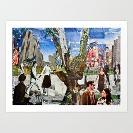 mix new city old age Art Print