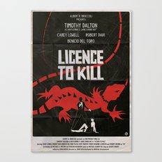 LICENCE TO KILL Canvas Print