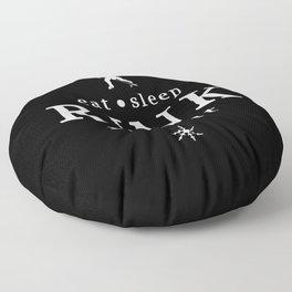 eat sleep RINK repeat Floor Pillow