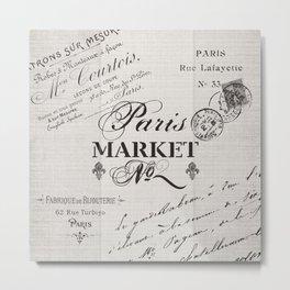 paris market Metal Print