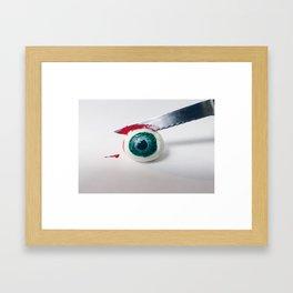 Sclicing Up Eyeballs Framed Art Print